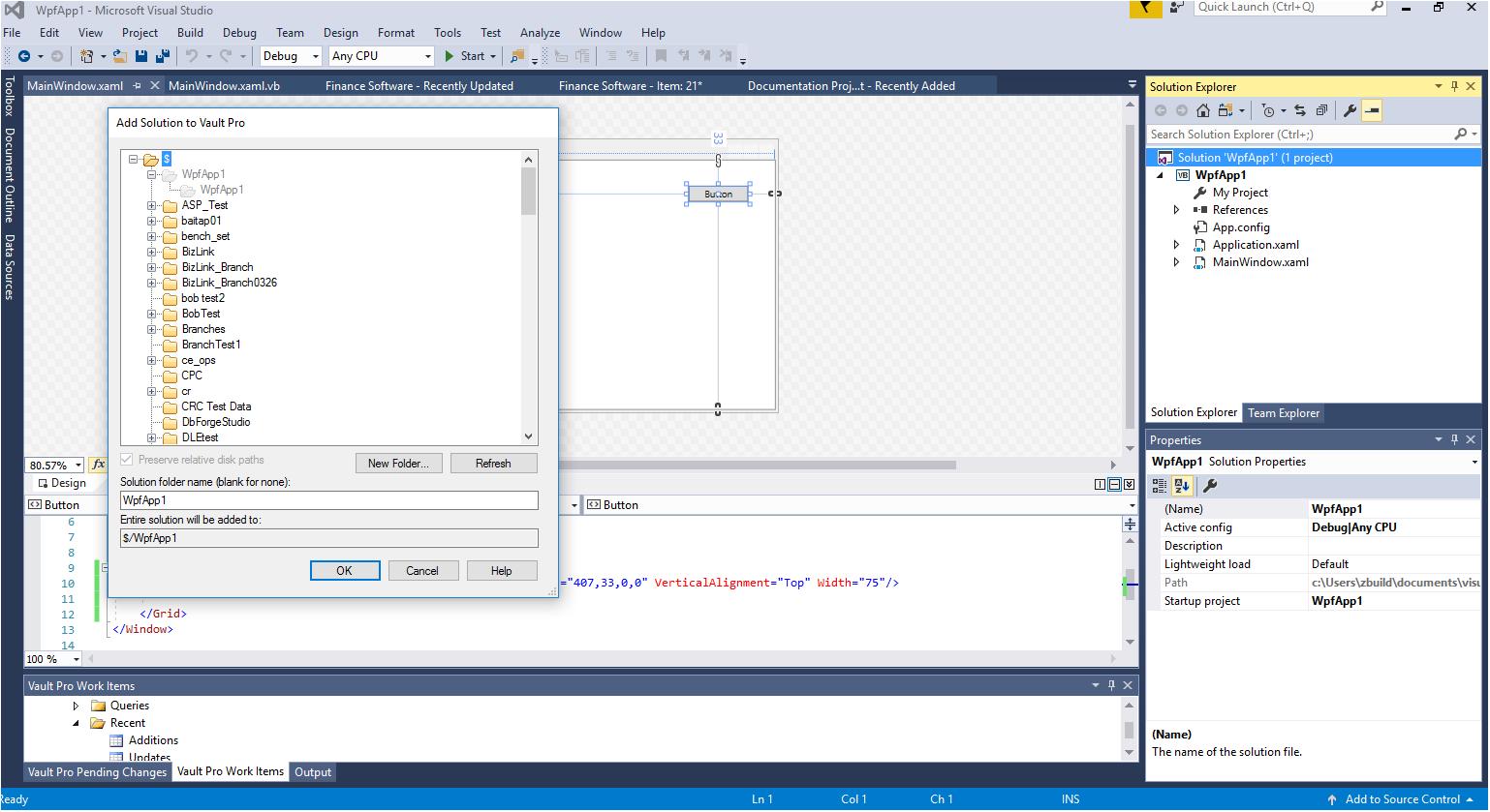 SourceGear Vault Professional Extension - Visual Studio